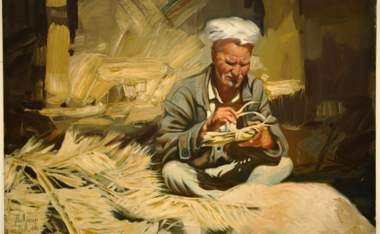 Bassim Al-Shaker, Basket Maker, 2011. Courtesy of the artist, Al-Nakhla Gallery and RUYA Foundation.