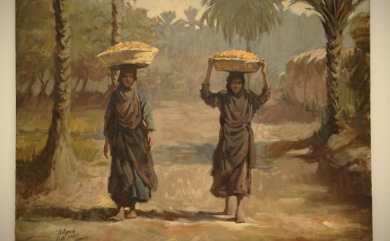 Bassim-Al-Shaker-Date-Sellers-2011-oil-on-canvas-60-x-80-cm-courtesy-of-tha-artists-Al-Nakhla-Gallery-adn-RUYA-Foundation