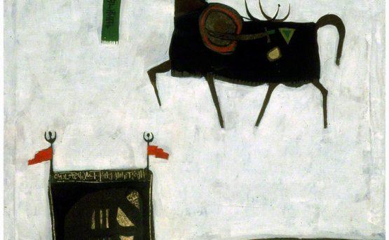 Dia Azzawi.Folkloric Mythology 1966. Courtesy of Meem Gallery.