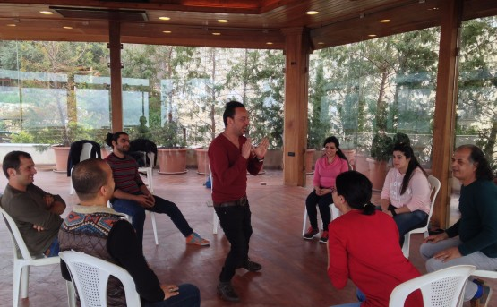 The STEP drama therapy group trains in Beirut with award-winning director Zeina Daccache.