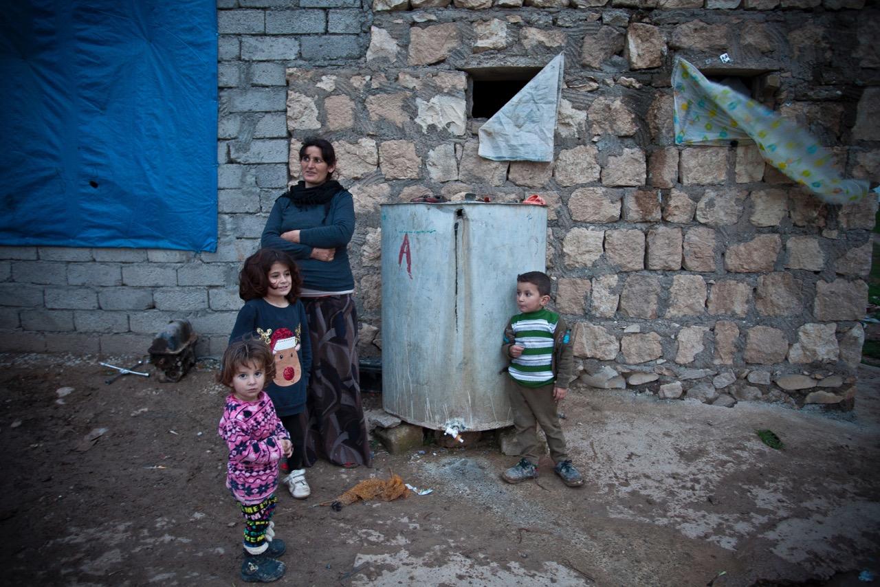 Outside the old Yezidi village of Sina.