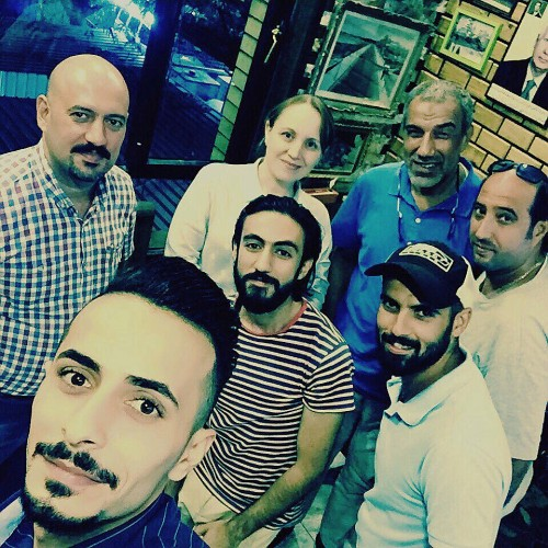 From top left, clockwise: Hussein Munthir, Ruya Admin Coordinator, Furat al Jamil, Iraq Director with photographers Hadi Al Najjar, Mazin Mundhir, Muhanad Al Sudani, Ayman Al Amiri and Zaid Al Obaidy.