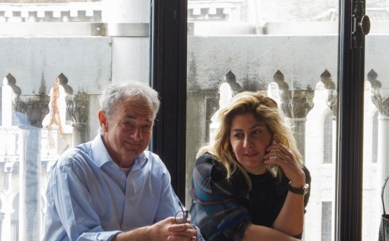 Curators of 'Archaic' the Iraq Pavilion at the 57th Venice Biennale, Tamara Chalabi and Paolo Colombo
