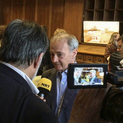 Paolo Colombo speaks to press. (c) Ruya Foundation / Boris Kirpotin