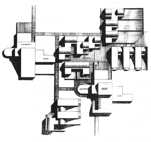 Plan for Taragaon Hostel, Photo: Carl Pruscha Archive.